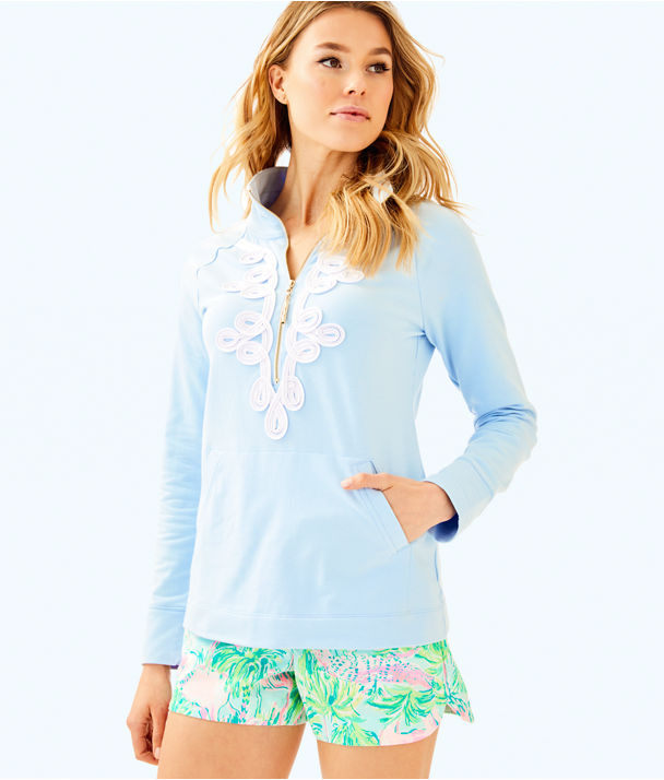 UPF 50+ Skipper Popover, Boho Blue, large