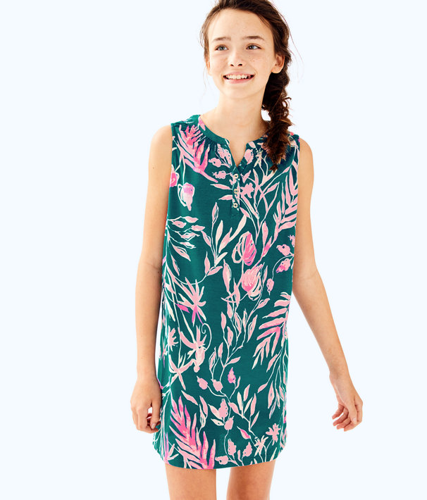 Girls Mini Essie Dress, Tidal Wave Its Prime Time, large