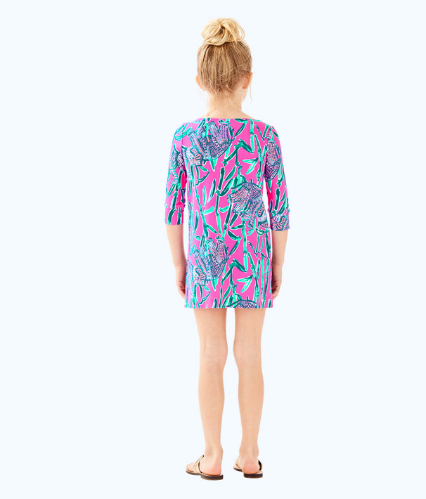 UPF 50+ Girls Mini Sophie Dress, Mandevilla Pink Extra Lucky, large