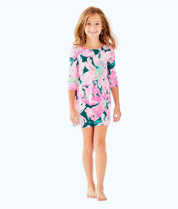UPF 50+ Girls Mini Sophie Dress, Tidal Wave Pans Garden, large