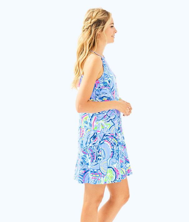 Margot Swing Dress, Blue Peri Pinch Pinch, large