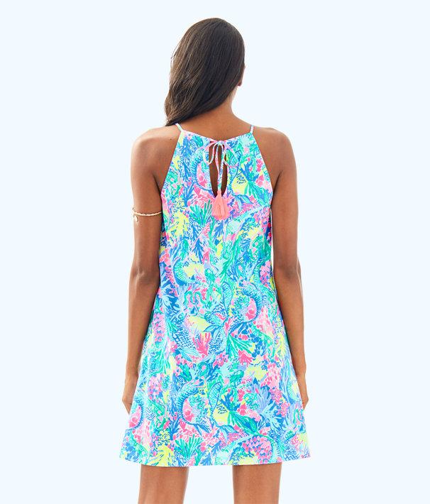 Margot Swing Dress, Multi Mermaids Cove, large