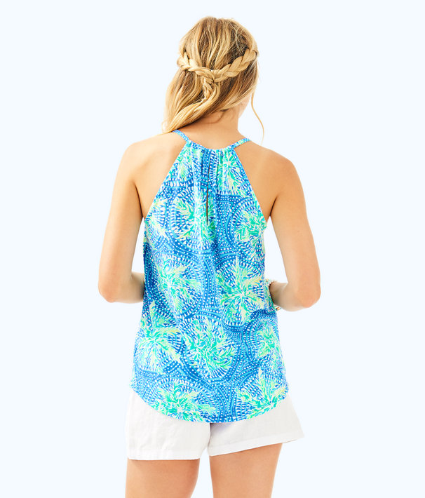 Lacy Tank, Bennet Blue Tropic Like Its Hot, large
