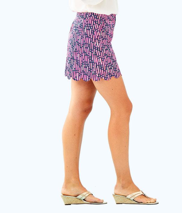 Colette Scallop Hem Skort, Mandevilla Pink Slathouse Stripe, large
