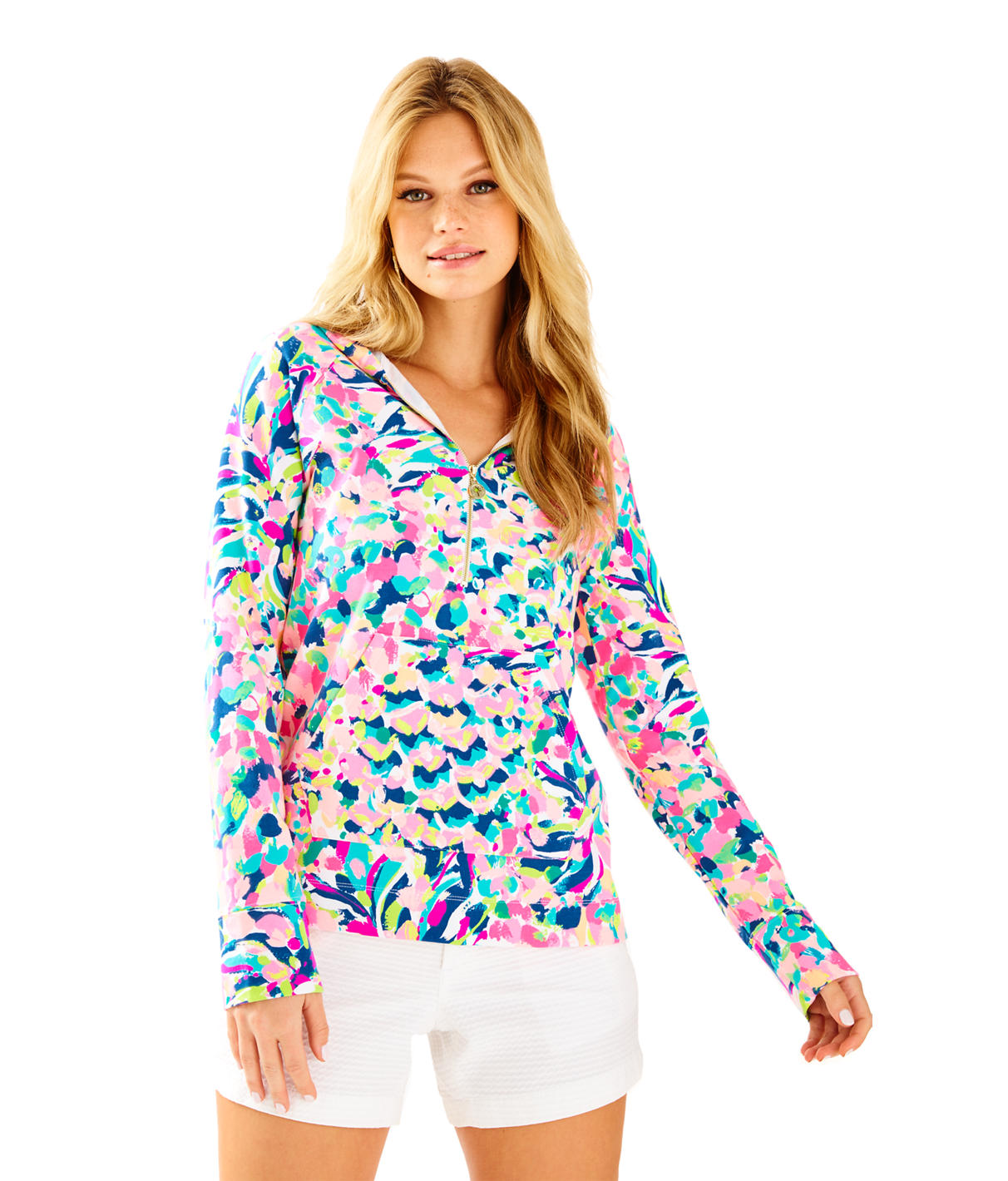 Lilly Pulitzer UPF 50+ Luxletic Hooded Skipper Popover
