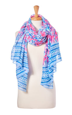 Palm Breeze Wrap, Cosmic Coral Cracked Up Wrap, large
