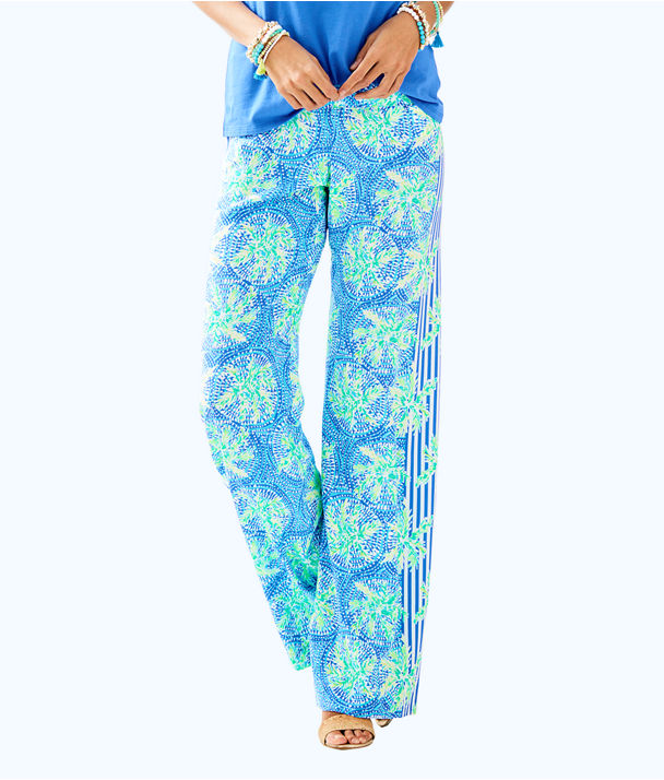 "33"" Bal Harbour Palazzo Pant, Bennet Blue Tropic Like Its Hot Eng Pant, large"