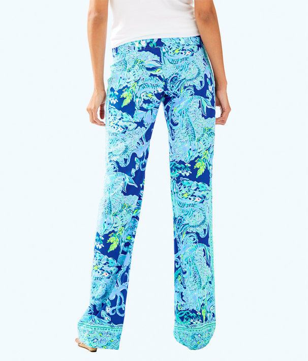 """33"""" Bal Harbour Palazzo Pant, Blue Current Sea Sirens Engineered Pant, large"""