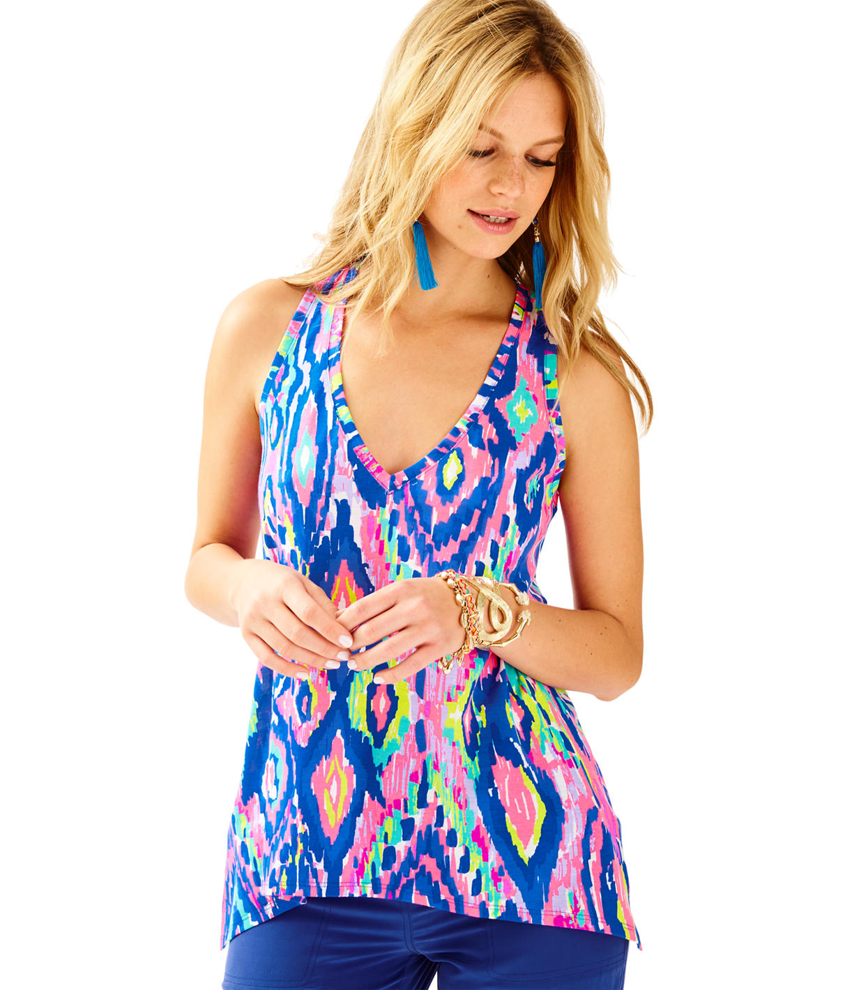 Lilly Pulitzer Kiawah Racer Back Tank Top
