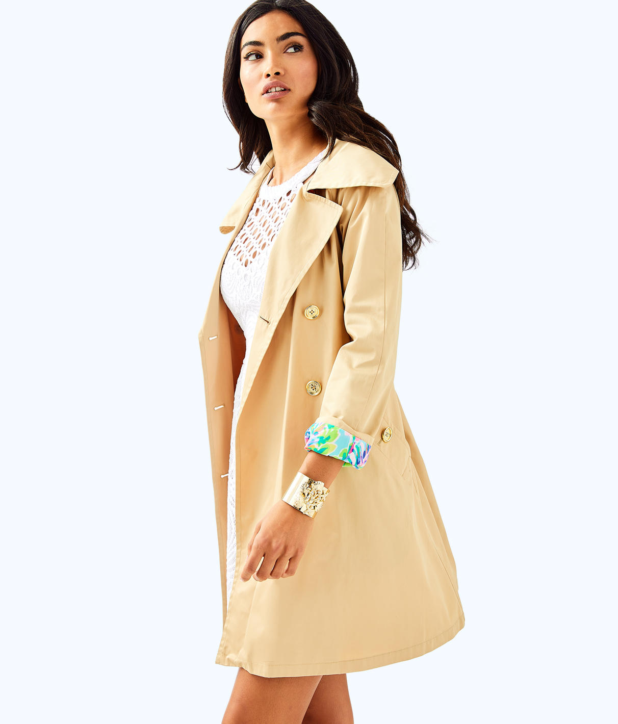 Lilly Pulitzer Lilly Pulitzer Womens Qynn Trench Coat