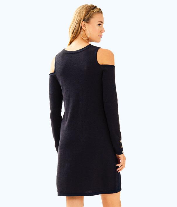 Faire Sweater Dress, Onyx Metallic, large