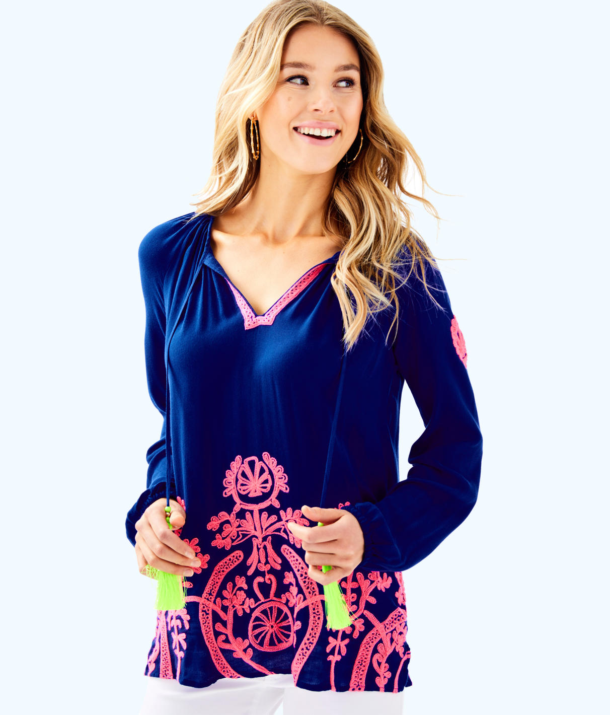 Lilly Pulitzer Lilly Pulitzer Womens Willa Embroidered Top