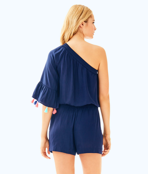 Amerie Romper, True Navy, large