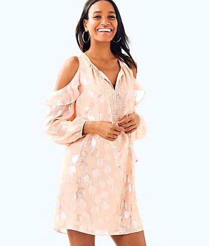 Marlyse Silk Dress, , large