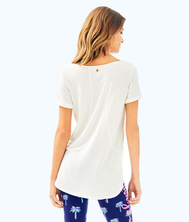 Kerah Lounge Tee Shirt, Resort White, large
