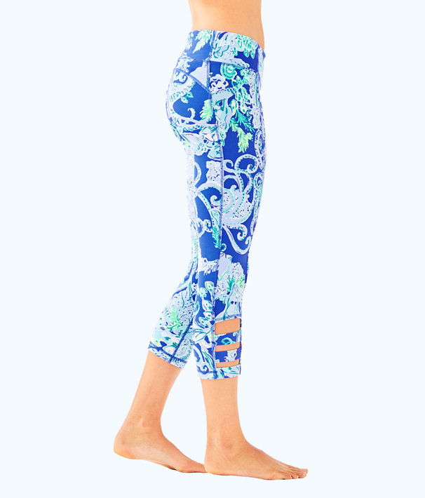 "UPF 50+ Luxletic 21"" Weekender Cropped Legging, Blue Current Sea Sirens, large"