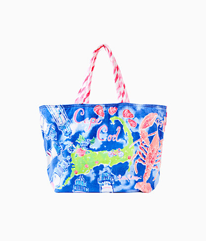 Destination Beach Tote, Multi Destination Cape Cod Tote, large