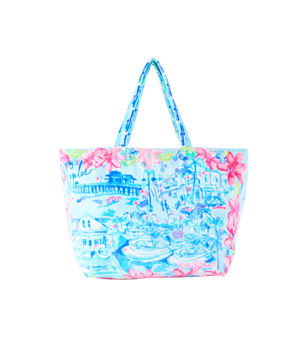 Destination Beach Tote, Multi Destination Naples Tote, large