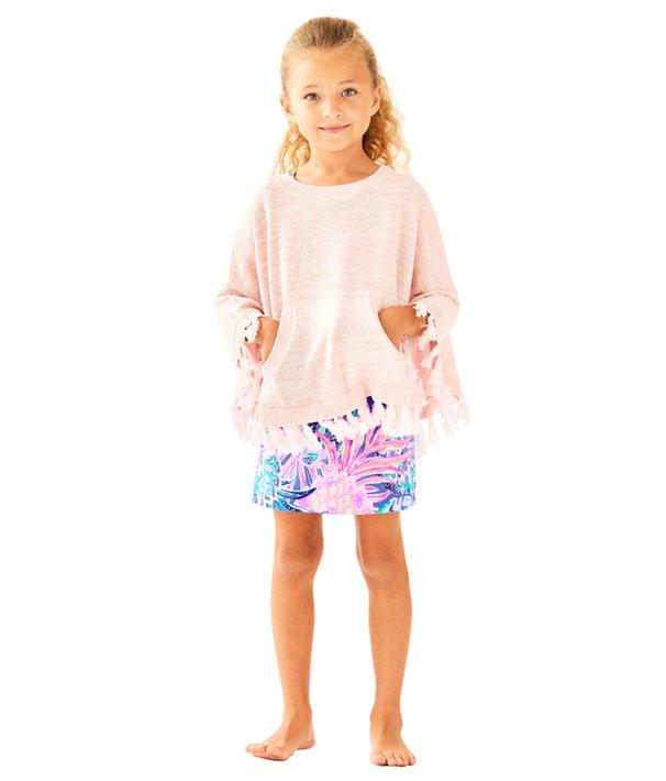 Girls Hani Poncho Sweater, Paradise Tint Metallic, large