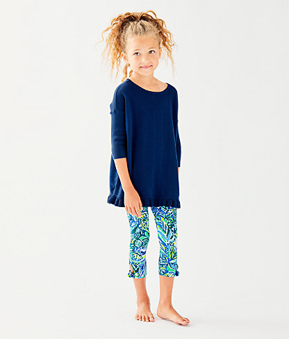 Girls Maia Legging, Bennet Blue Sneak A Beak, large