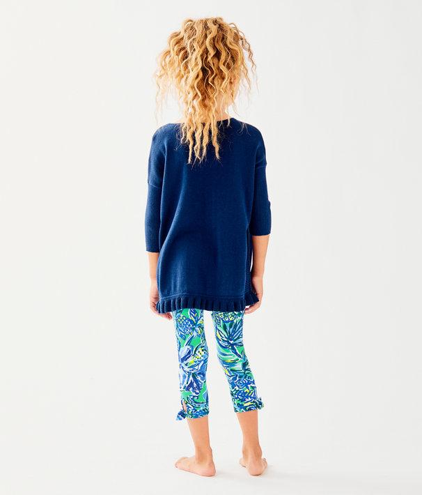 Girls Maia Legging, Bennet Blue Sneak A Beak, large