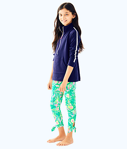 Girls Maia Legging, Pink Sunset Guac And Roll, large