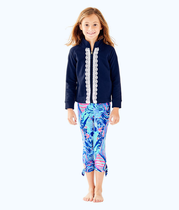 Girls Maia Legging, Twilight Blue Scale Up, large