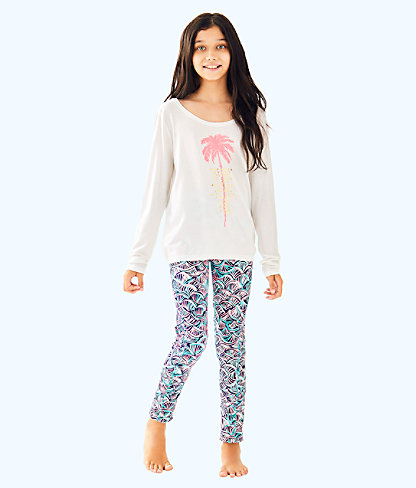UPF 50+ Luxletic Girls Mini Weekender Legging, , large
