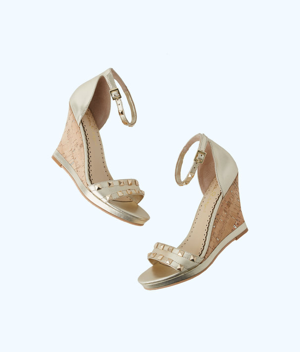 Sydney Wedge, Gold Metallic, large