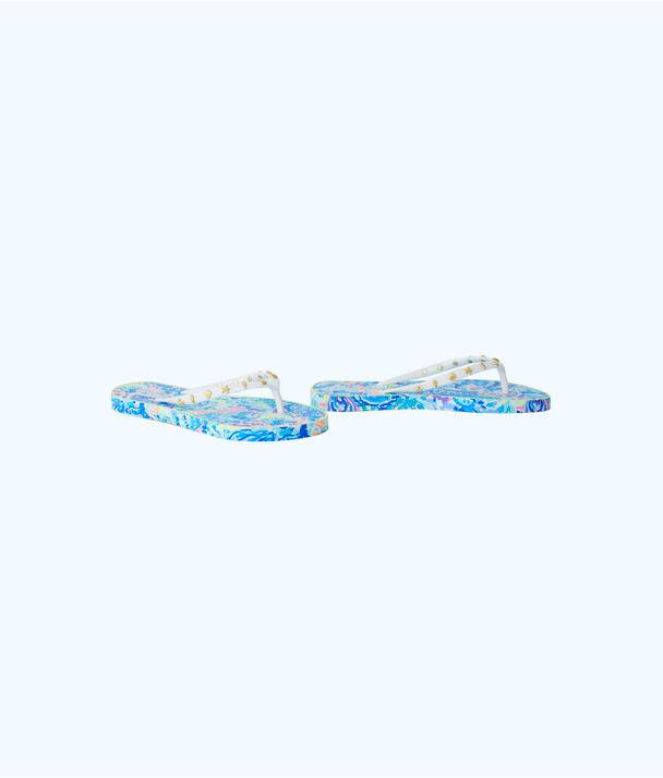 Critter Flip Flop, Multi Ocean Commotion Shoe, large
