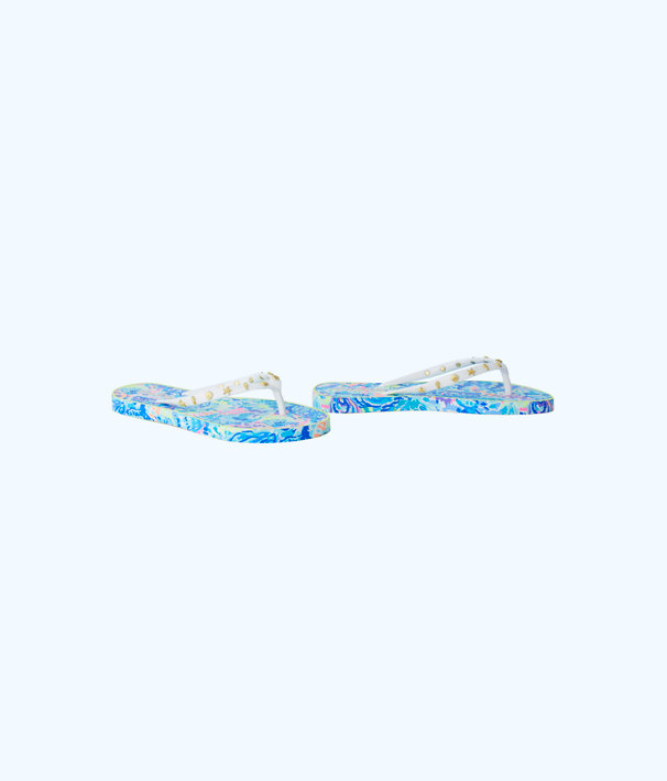 Critter Flip Flop, Multi Ocean Commotion Shoe, large