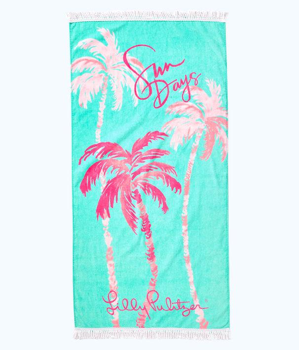 Boho Towel, Amante Aqua Sun Days Engineered Towel, large