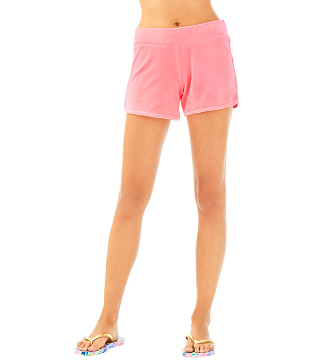 "4"" Robyn Solid Velour Lounge Short, , large"
