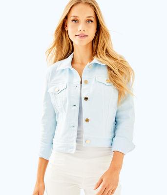 Seaspray Denim Jacket, Boho Blue, large