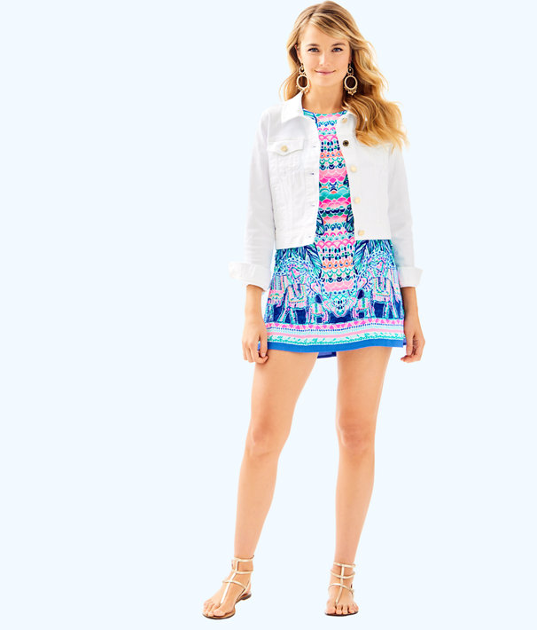 Seaspray Denim Jacket, Resort White, large