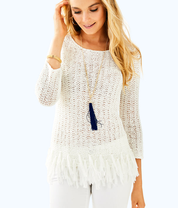 Brunswick Sweater, Resort White, large