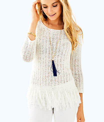 Brunswick Sweater, Resort White, large