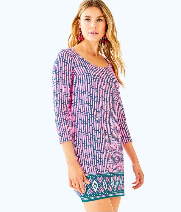 Beacon Dress, Mandevilla Pink Slathouse Stripe Engineered Dress, large