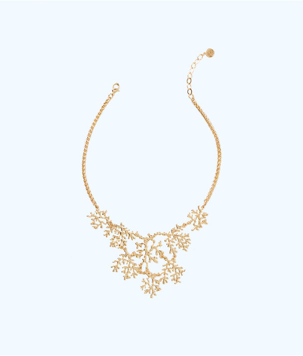 Elsa Necklace, Gold Metallic, large