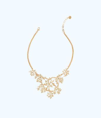 Elsa Necklace, Gold Metallic, large
