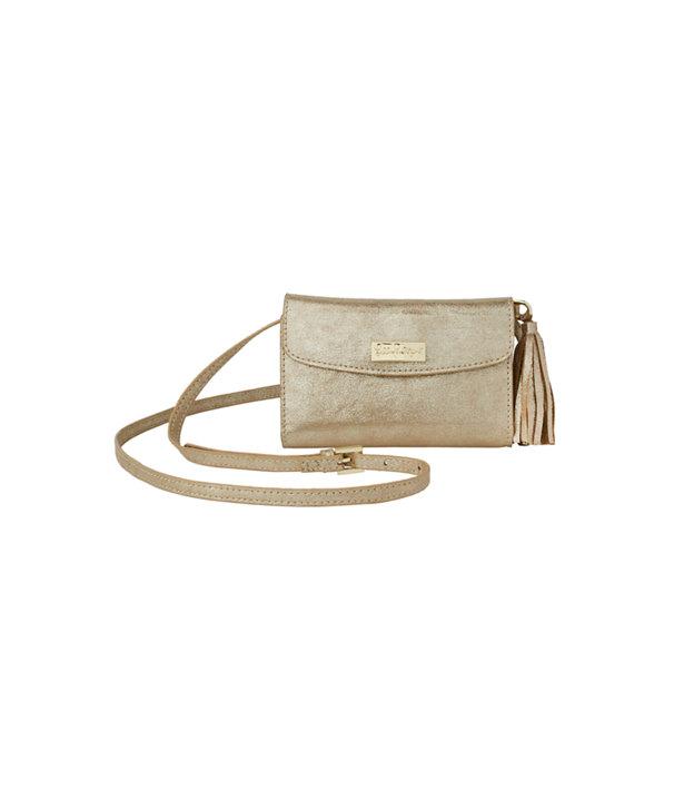 Bahama Crossbody Bag, Gold Metallic, large