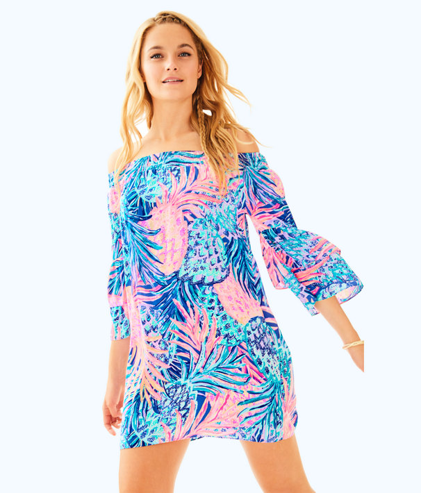 Tobyn  Off the Shoulder Tunic Dress, , large