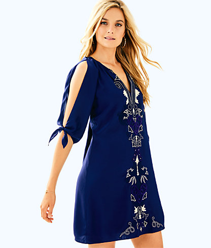 Bryce Silk Dress, , large