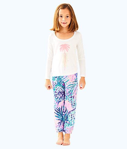 Girls Kay Top, Resort White Florida Store Graphic Kids, large