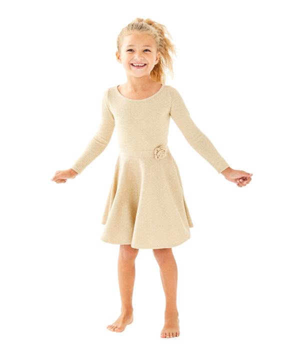 Girls Carynn Sweater Dress, , large