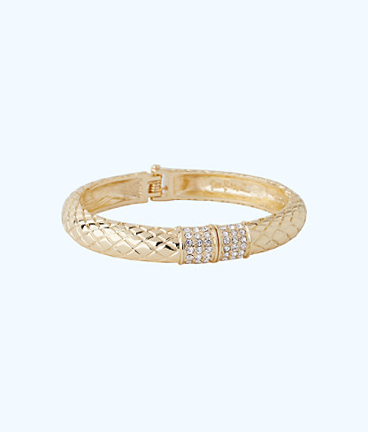 Sea Fan Bangle, Gold Metallic, large