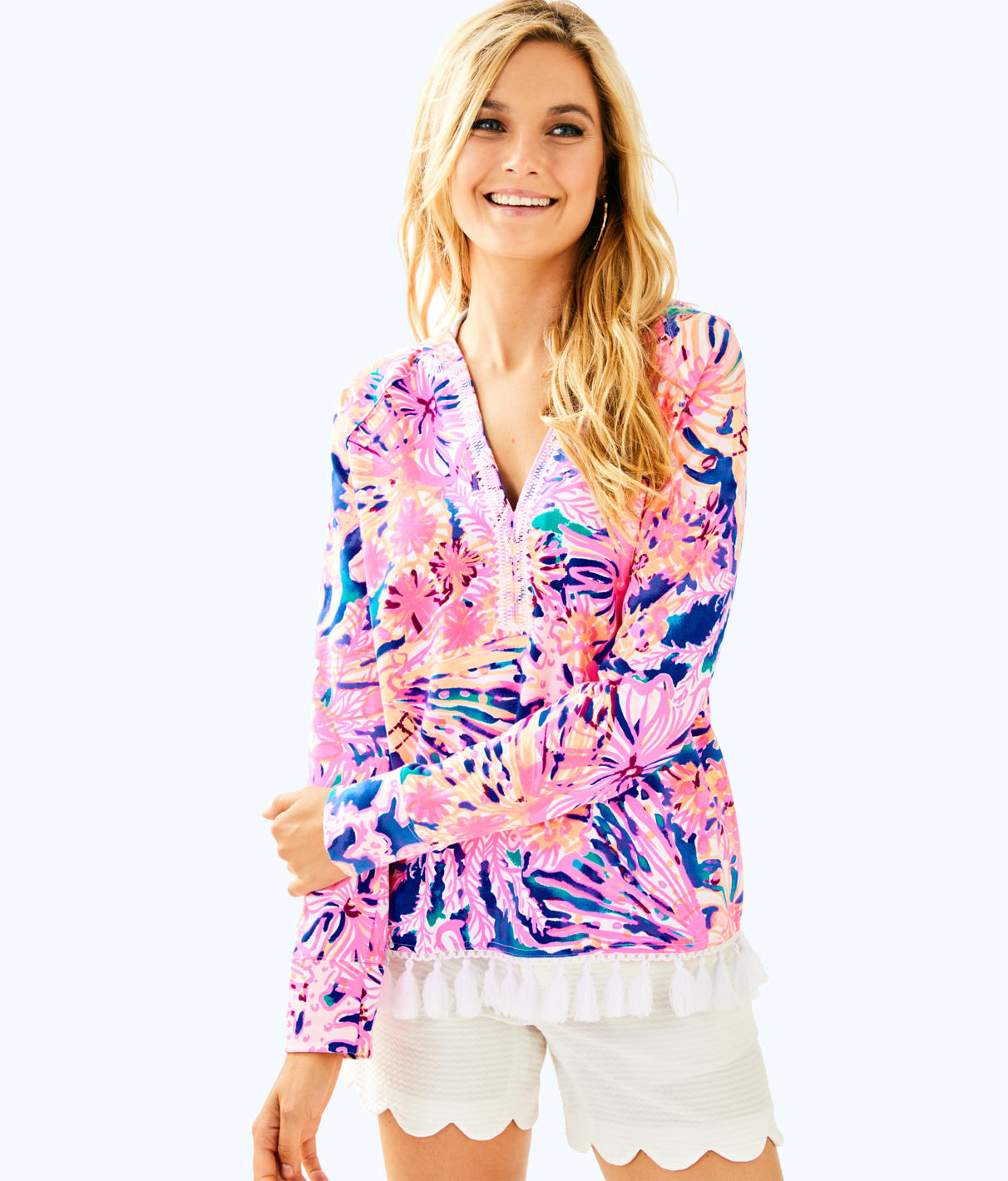 Lilly Pulitzer Lilly Pulitzer Womens UPF 50+ Harmon Hoodie