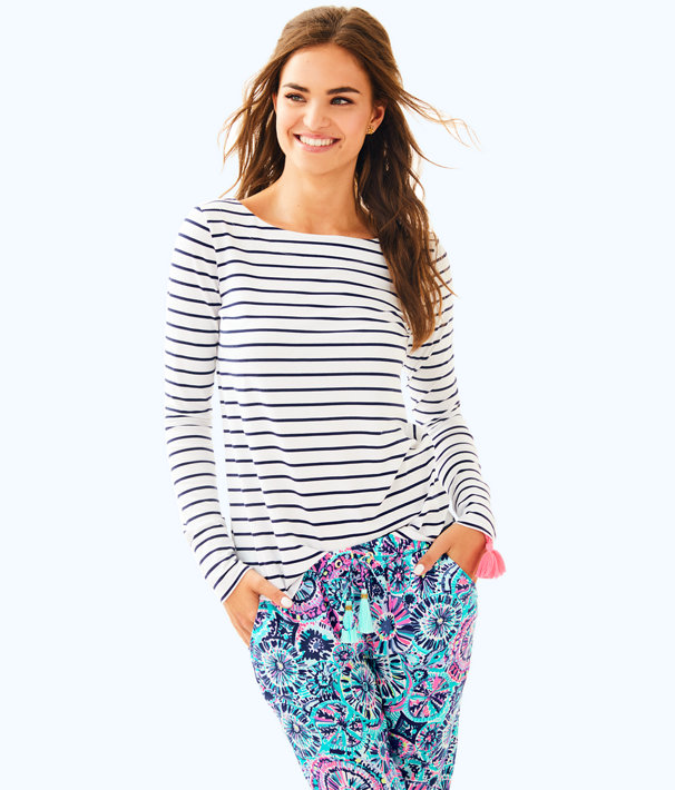 Tristan Top, Bright Navy Mystic Stripe, large