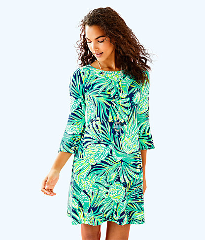Ophelia Swing Dress, Bright Navy Party Like A Flock Star, large