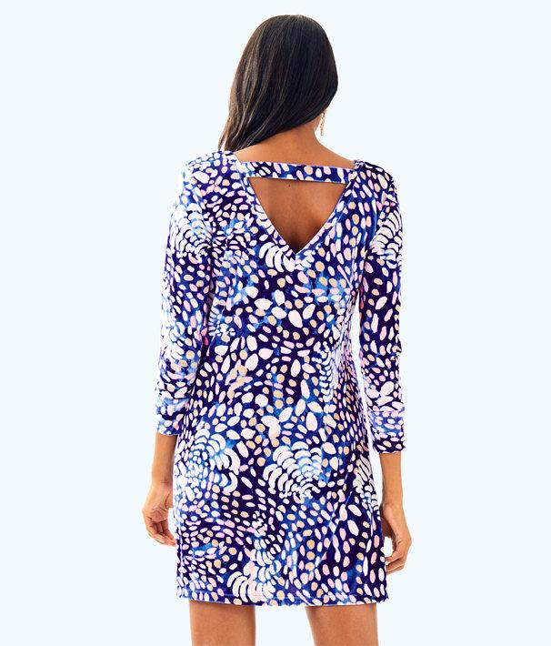 Olive Swing Dress, Beckon Blue Sparkling Grotto, large